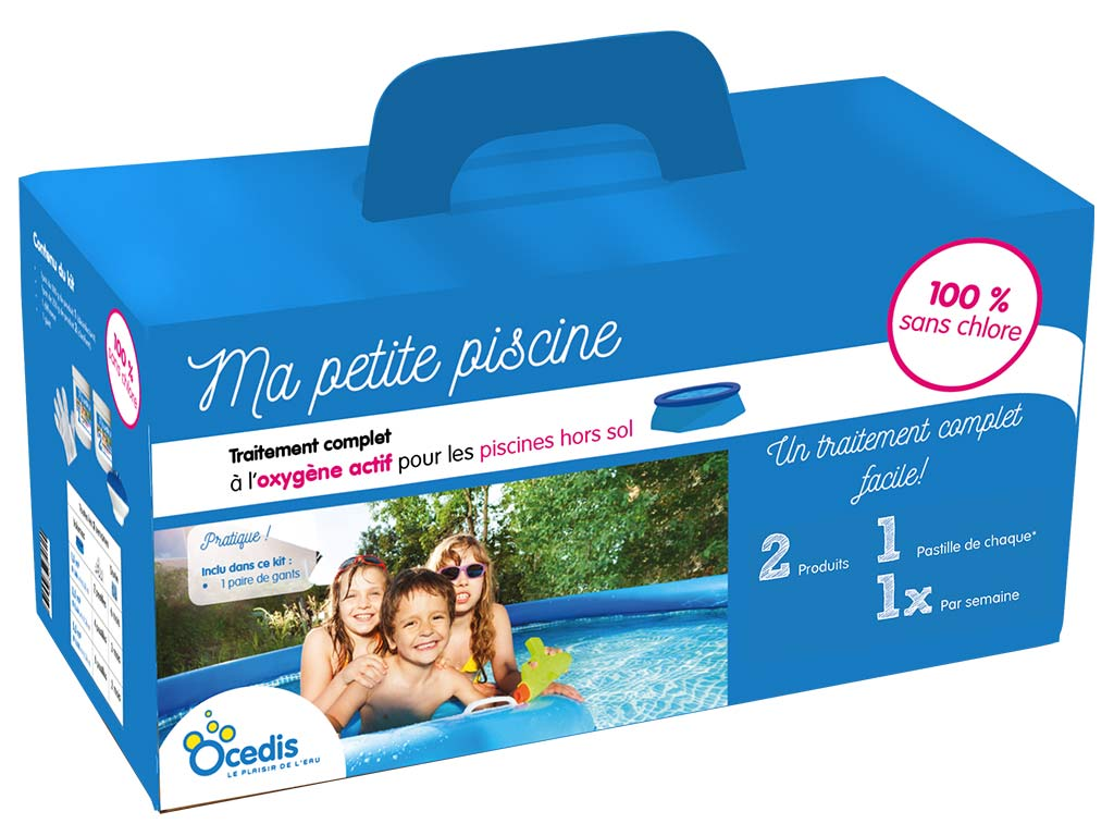 Traitement complet piscine hors-sol Ocedis MA PETITE PISCINE 10% sans  chlore