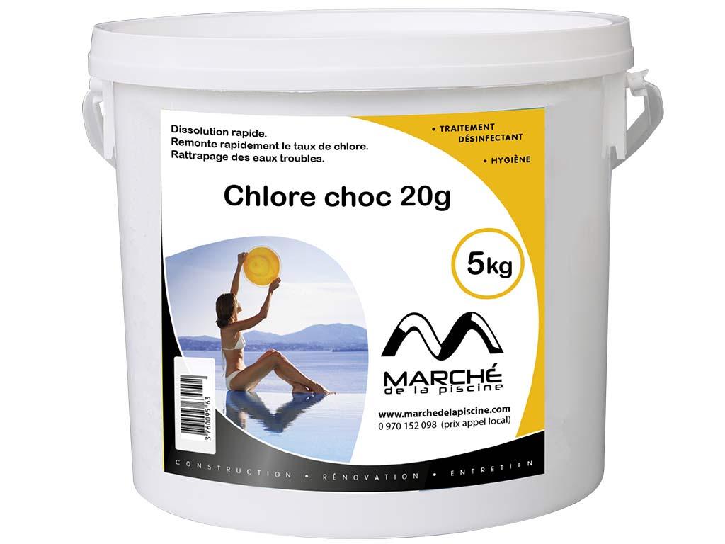 Pastilles de chlore choc marchedelapiscine 20g seau 5kg - Pastille chlore piscine gonflable ...