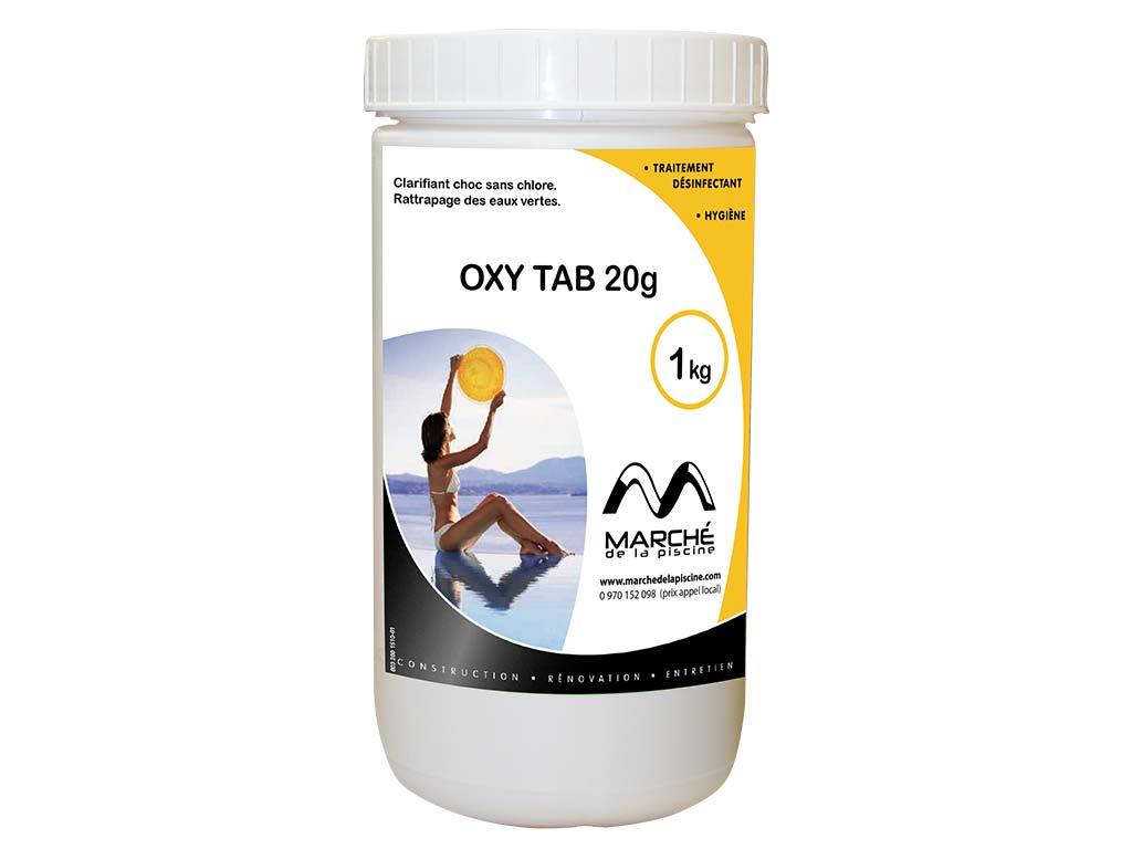 Traitement piscine oxyg ne actif oxytab marchedelapiscine - Traitement piscine a l oxygene actif ...