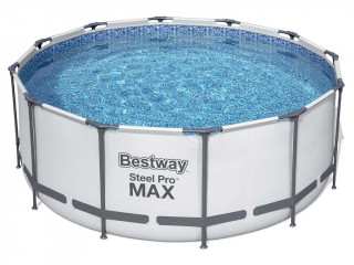 Kit piscine Bestway STEEL PRO MAX ronde Ø366x122cm filtration cartouche