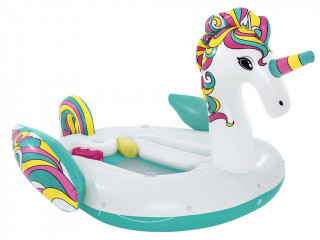 Bestway - Bouee geante gonflable piscine Bestway LICORNE 590x404cm 6 personnes