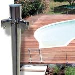 Barrière piscine inox et acier