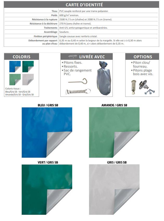 Couverture de securite et d'hivernage Albiges SKIN EXTREM NFP90-308 piscine enterree - Albigès SKIN EXTREM Que des avantages sans l'inconvénient d'un prix élevé