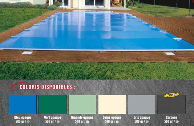 Couverture de securite a barres APF ACCESS opaque coloris carbone (m²) - Couverture de sécurité à barres APF ACCESS Esthétisme et sécurité toute l'année