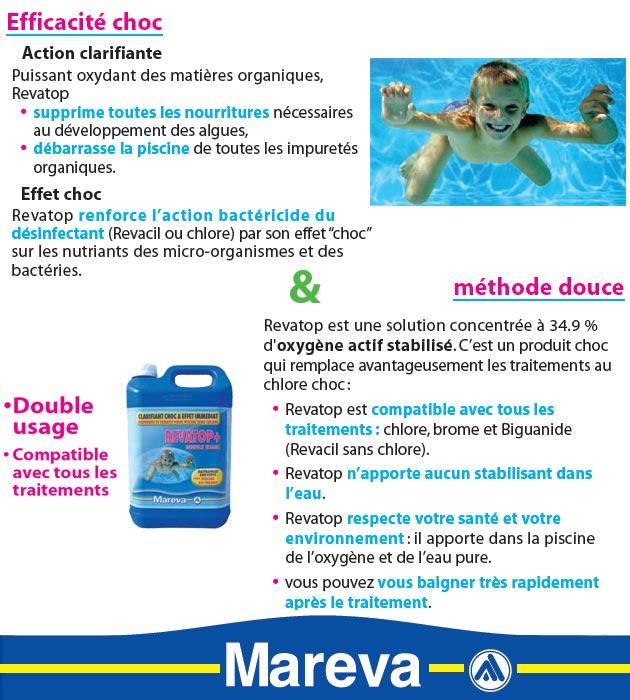 Produit de traitement choc anti-algues Mareva REVATOP+ bidon 5L - Mareva REVATOP+ Traitement choc contre les algues