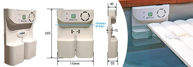 Alarme piscine Sensor ESPIO homologuee NF P90-307 a detection de chute - Sensor ESPIO technologie novatrice