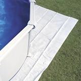 Kit piscine hors-sol acier Toi MAGNUM OVALADA ovale 9.15 x 4.57 x 1.32m laque blanc - Kit piscine complet Toi MAGNUM OVALADA