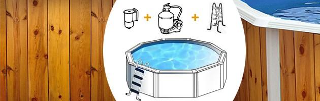 Kit piscine hors-sol acier Toi VETA ronde Ø4.60 x 1.20m decor bois - Avantages des piscines Toi VETA