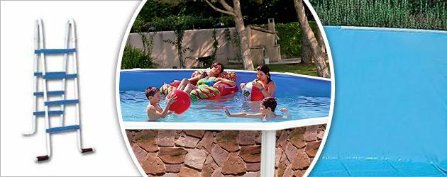 Kit piscine hors-sol acier Toi ROCALLA ovale 6.40 x 3.66 x 1.20m decor pierre - Piscine hors-sol Toi ROCALLA Plaisir et détente à chaque baignade