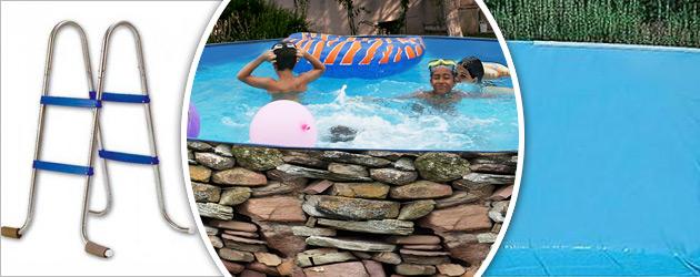 Kit piscine hors-sol acier Toi MURO ronde Ø4.00 x 0.90m decor pierre - Piscine hors-sol Toi MURO Plaisir et détente à chaque baignade