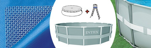 Kit piscine tubulaire Intex ULTRA FRAME ronde Ø427 x 122cm filtration sable 4m3/h - Kit piscine hors-sol tubulaire Intex ULTRA FRAME Design et conviviale