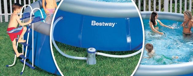 Kit piscine hors-sol Bestway FAST SET POOL ronde Ø366 x 91cm avec echelle - Bestway FAST SET POOL Des piscines polyvalentes et conviviales