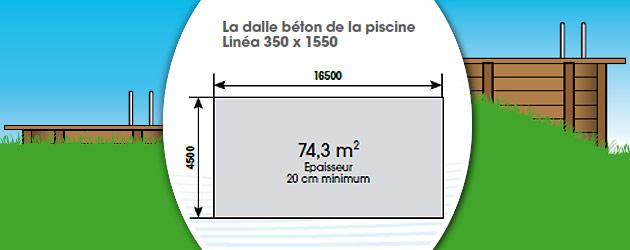 Kit piscine bois Nortland Ubbink LINEA rectangulaire 350x1550x155cm liner beige - Avantages des piscines bois Nortland Ubbink LINEA