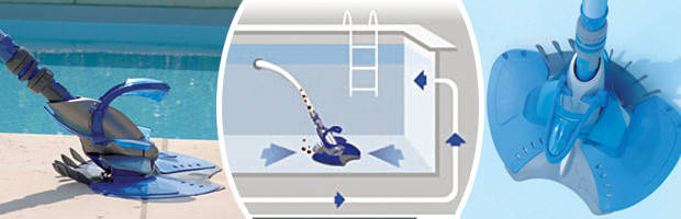 Robot piscine hydraulique zodiac baracuda x7 quattro avec for Robot piscine baracuda