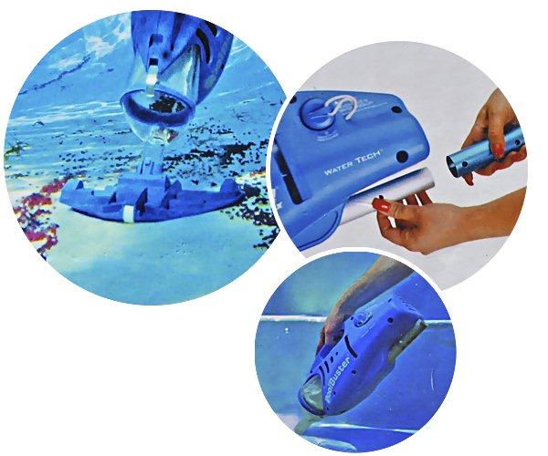 Aspirateur electrique Water Tech POOL BLASTER MAX pour piscine hors-sol et spa - Galerie photos de l'aspirateur électrique piscine et spa Water POOL BLASTER MAX