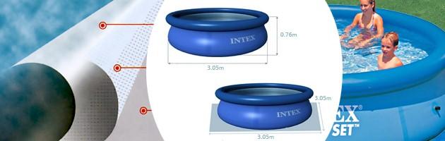 Piscine hors-sol autoportante Intex EASY SET ronde Ø305 x 76cm bleue - Piscine hors-sol Intex Intex EASY SET Plaisir et détente à chaque baignade