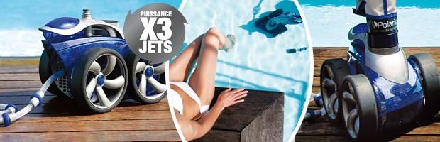 Robot piscine hydraulique POLARIS 3900S a pression - Le robot piscine hydraulique à pression POLARIS 3900S Qualité et rapidité