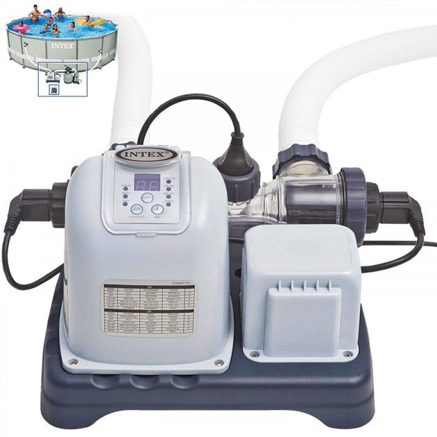 Ecosterilisateur Intex KRYSTAL CLEAR au sel avec systeme OEC pour piscine jusqu'a 27m3 - Fonctionnement du traitement automatisé Intex KRYSTAL CLEAR