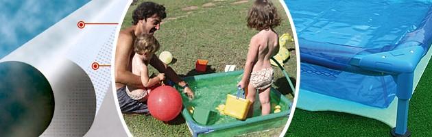 Piscine hors-sol enfant Toi BABY POOL carree 0.85 x 0.85m coloris bleu - Avantages des piscines enfants Toi BABY POOL