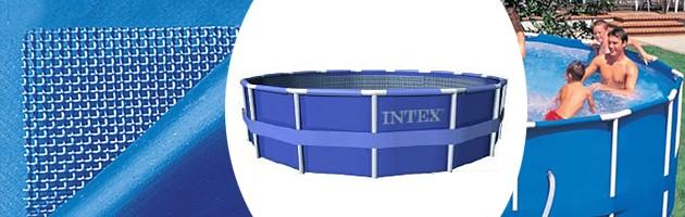 Kit piscine tubulaire Intex METAL FRAME ronde Ø305 x 76cm avec filtration a cartouche 1.25m3/h - Piscine hors-sol Intex METAL FRAME Plaisir et détente à chaque baignade