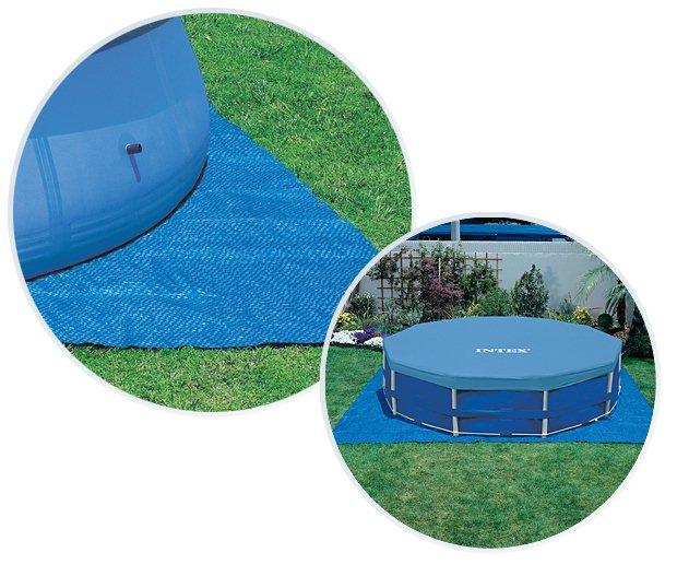 Tapis de sol Intex DALLE 472 x 472cm pour piscine hors-sol jusqu'a Ø457cm - Avantages du tapis de sol Intex DALLE 472 x 472cm pour piscines hors-sol