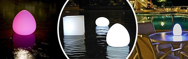 Lampe sans fil Loon PLATOON a LED 70x52cm pour piscine et jardin - Caractéristiques de la lampe sans fil Loon PLATOON à LED pour piscine et jardin