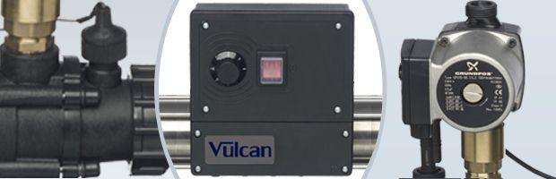 Echangeur de chaleur Vulcan TOTAL Titane a controle analogique 40kW - Echangeur de chaleur Vulcan TOTAL Titane analogique 40kW