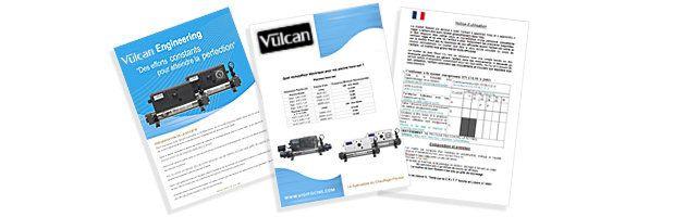 Echangeur de chaleur Vulcan TOTAL Titane a controle analogique 100kW - Documents à télécharger conformité à la norme CE, notice d'utilisation, choix réchauffeur