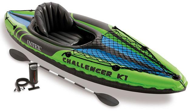Kayak gonflable Intex CHALLENGER K1 dimensions 274 x 76 x 33cm 1 personne - Caractéristiques du kayak gonflable Intex CHALLENGER K1