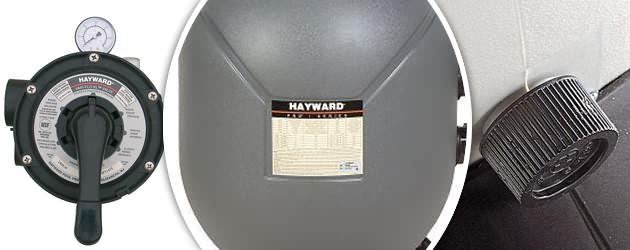 Filtre a sable Hayward 11m3/h SERIE PRO avec vanne SIDE - Caractéristiques du filtre à sable Hayward SERIE PRO vanne SIDE 1