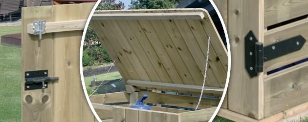 Coffre de filtration bois gr 120 x 101 x 86mm pour for Materiel filtration piscine
