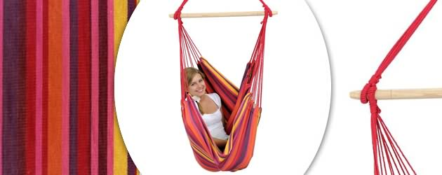 Chaise suspendue hamac Amazonas Relax coloris vulcano 130 x 100cm - Caractéristiques de la chaise suspendue hamac Amazonas Relax
