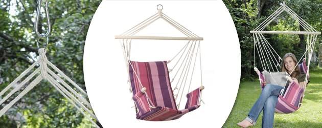 Chaise suspendue hamac Amazonas Palau coloris candy 120 x 50cm - Caractéristiques de la chaise suspendue hamac Amazonas Palau