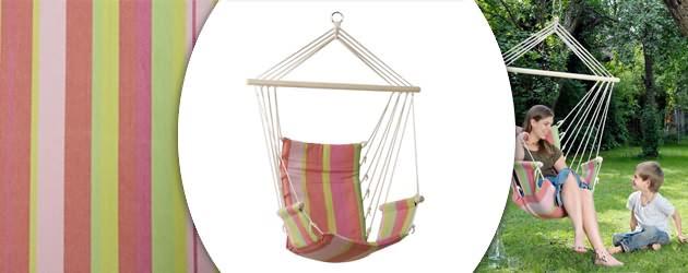 Chaise suspendue hamac Amazonas Palau coloris bubblegum 120 x 50cm - Caractéristiques de la chaise suspendue hamac Amazonas Palau