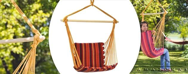 Chaise suspendue hamac Amazonas Belize coloris vulcano 104 x 56cm - Caractéristiques de la chaise suspendue hamac Amazonas Belize