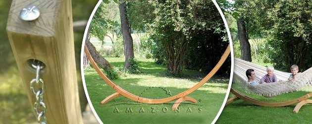 Support de hamac Amazonas Arcus 437 x 160 x 145cm - Caractéristiques du support de hamac Arcus