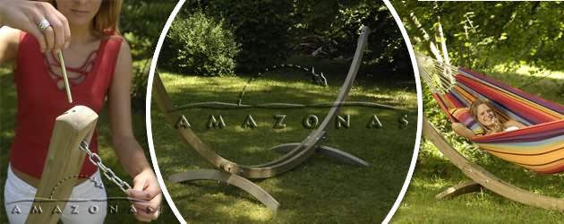 Support de hamac Amazonas Olymp 395 x 143 x 145cm - Caractéristiques du support de hamac Olymp