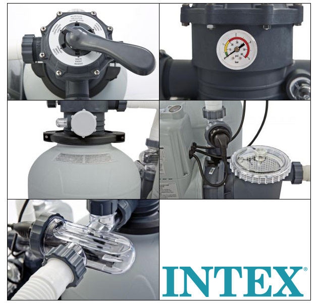 Combine de filtration a sable Intex COMBO debit 8m³/h avec ecosterilisateur et OEC jusqu'a 60m3 - Combiné de filtration Intex COMBO Une sérénité au quotidien