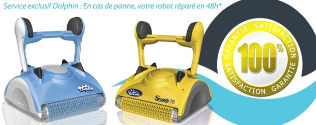 Robot piscine electrique Dolphin NAUTY avec chariot - Dolphin, la garantie d'une satisfaction totale en cas de panne votre robot réparé en 48h*