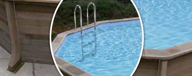 Kit piscine beton NATURALIS decagonale Ø4.95 x 1.40m aspect bois - Avantages des piscines hors-sol béton NATURALIS