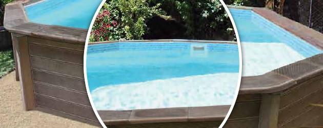 Kit piscine beton NATURALIS decagonale allongee 9,38 x 4,72 x 1,40m aspect bois - Avantages des piscines semi-enterrées béton NATURALIS