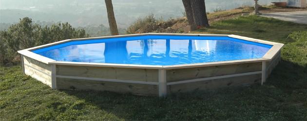 Kit piscine bois Water Clip BASILAN octogonale Ø460 x 76cm - Piscines bois Water Clip BASILAN Pour des heures d'amusement en toute sécurité !