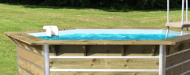 Kit piscine bois Water Clip CEBU hexagonale Ø340 x 111cm - Piscines bois Water Clip CEBU Pour un moment de détente en toute sécurité.