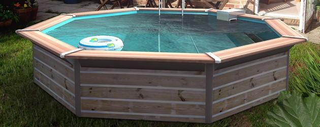 Kit piscine bois Water Clip FLORES octogonale Ø460 x 129cm - Piscines bois Water Clip FLORES Un bassin haut de gamme tout équipé