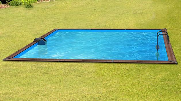 Kit piscine bois Water Clip PLATINUM carree 518 x 518 x 147cm - Piscine bois Water Clip PLATINUM Luxueuse et dotée d'un équipement complet