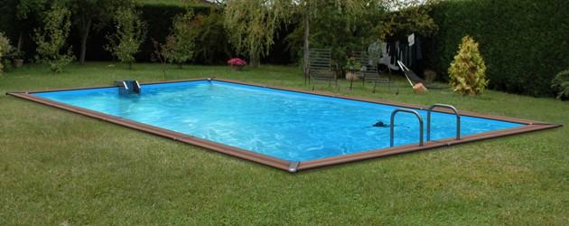 Kit piscine bois Water Clip PLATINUM rectangulaire 678 x 368 x 147cm - Piscine bois Water Clip PLATINUM Luxueuse et dotée d'un équipement complet