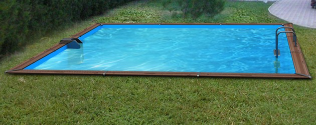 Kit piscine bois Water Clip PLATINUM rectangulaire 988 x 518 x 147cm - Piscine bois Water Clip PLATINUM Luxueuse et dotée d'un équipement complet