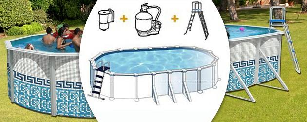Kit piscine hors-sol acier Toi MOSAICO ovale 9.15 x 4.57 x 1.2m decor mosaique - Avantages des piscines Toi MOSAICO