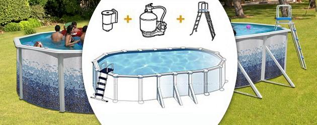 Kit piscine hors-sol acier Toi TRENCADIS ovale 9.15 x 4.57 x 1.2m decor ceramique - Avantages des piscines Toi TRENCADIS