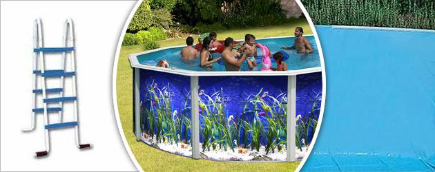 Kit piscine hors-sol acier Toi OCEANO ronde Ø5.50 x 1.20m decor aquatique - Avantages des piscines Toi OCEANO
